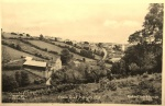 Postcard, view showing Fosse Road