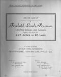 Kingsbridge Freehold Lands Sale 1946