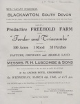 Forder Farm & Trincombe Sale 1946