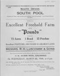Pounds Farm Sale 1946