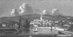 View of Kingsbridge from the estuary, early 1800s