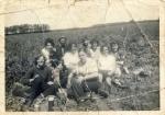 Potato pickers at Redford Farm, Kingsbridge, 1958