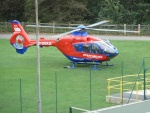 The Air Ambulance landing at The Recreation Ground, 2011