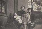 John and Violet Tabb (Vie). Barbara Tabb and baby Tony. At Rickham farm