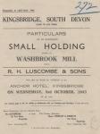 Washbrook Mill, Kingsbridge