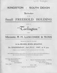 Corlington Sale 1947