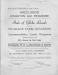 Vicarage Farm Sale 1946