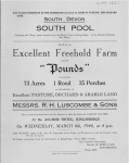 Pounds Farm Sale 1946