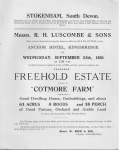 Cotmore Farm Sale 1930